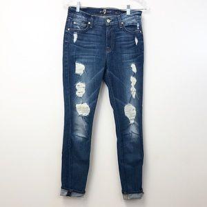7FAM The Skinny Distressed Jean